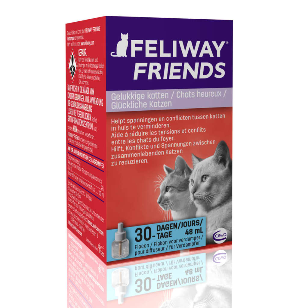 feliway friends pheromone diffuser refill 48 ml cat 066810. Black Bedroom Furniture Sets. Home Design Ideas