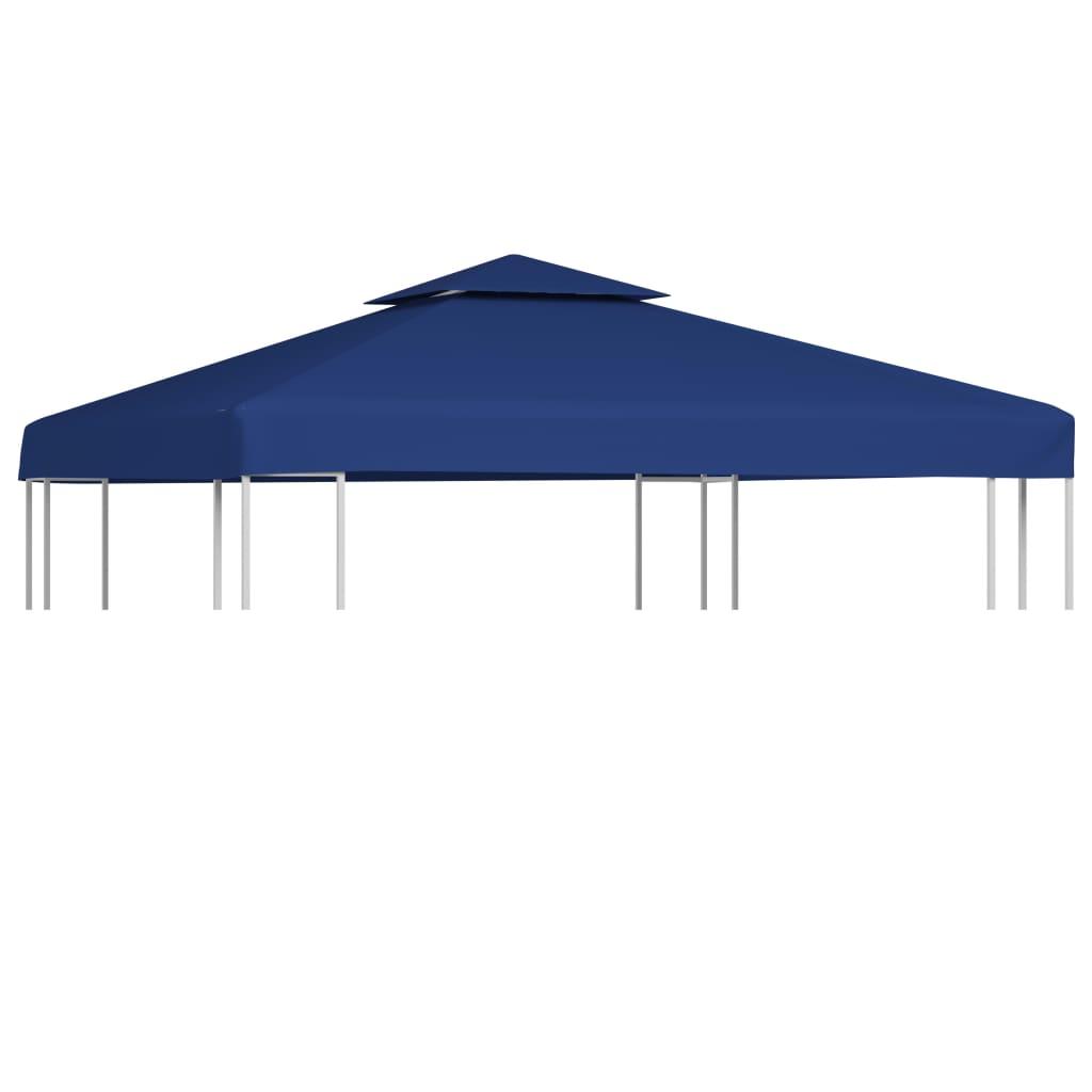 waterproof gazebo cover canopy oz yd dark blue 10 39 x 10 39. Black Bedroom Furniture Sets. Home Design Ideas