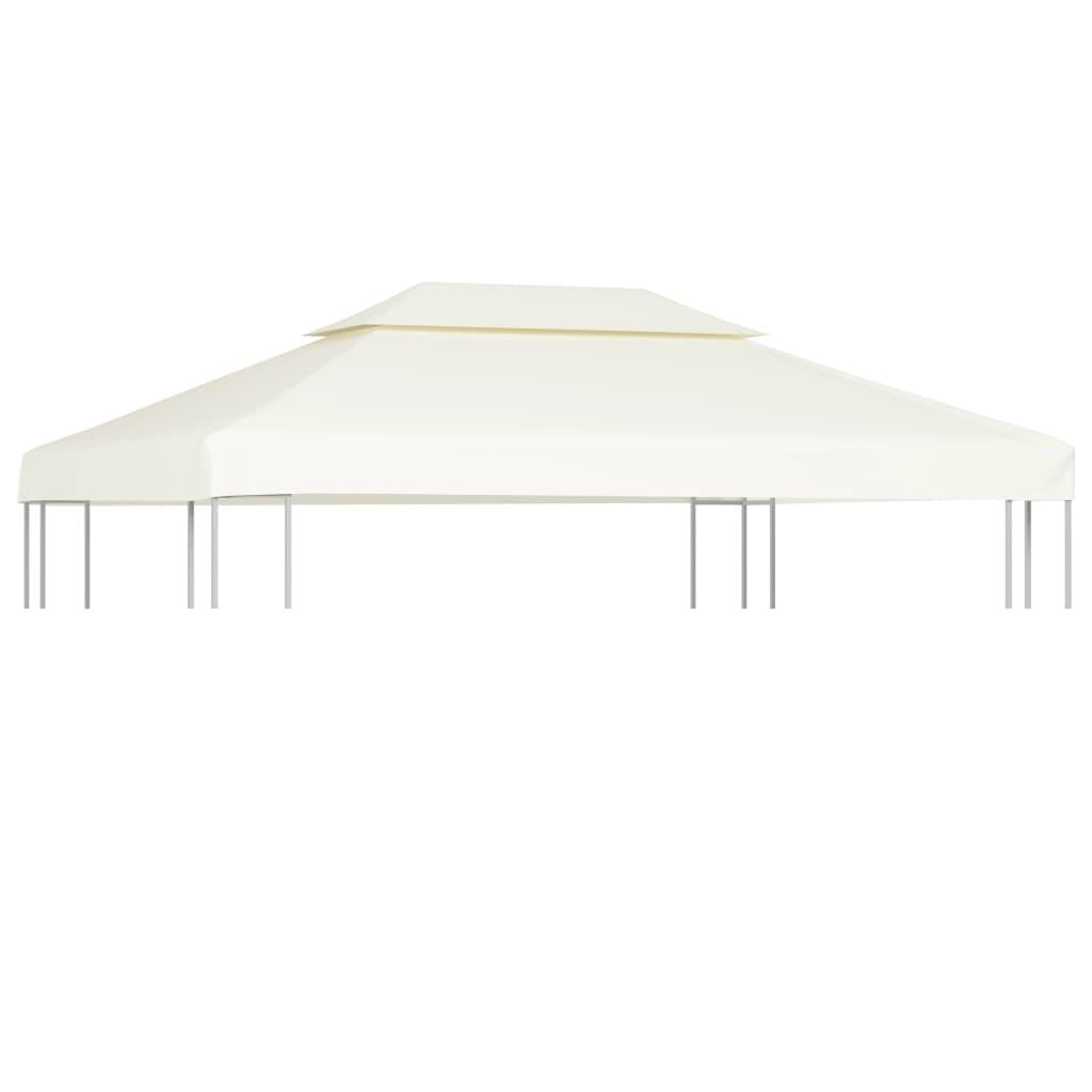 vidaXL Waterproof Gazebo Cover Canopy Cream White 10' x 13'