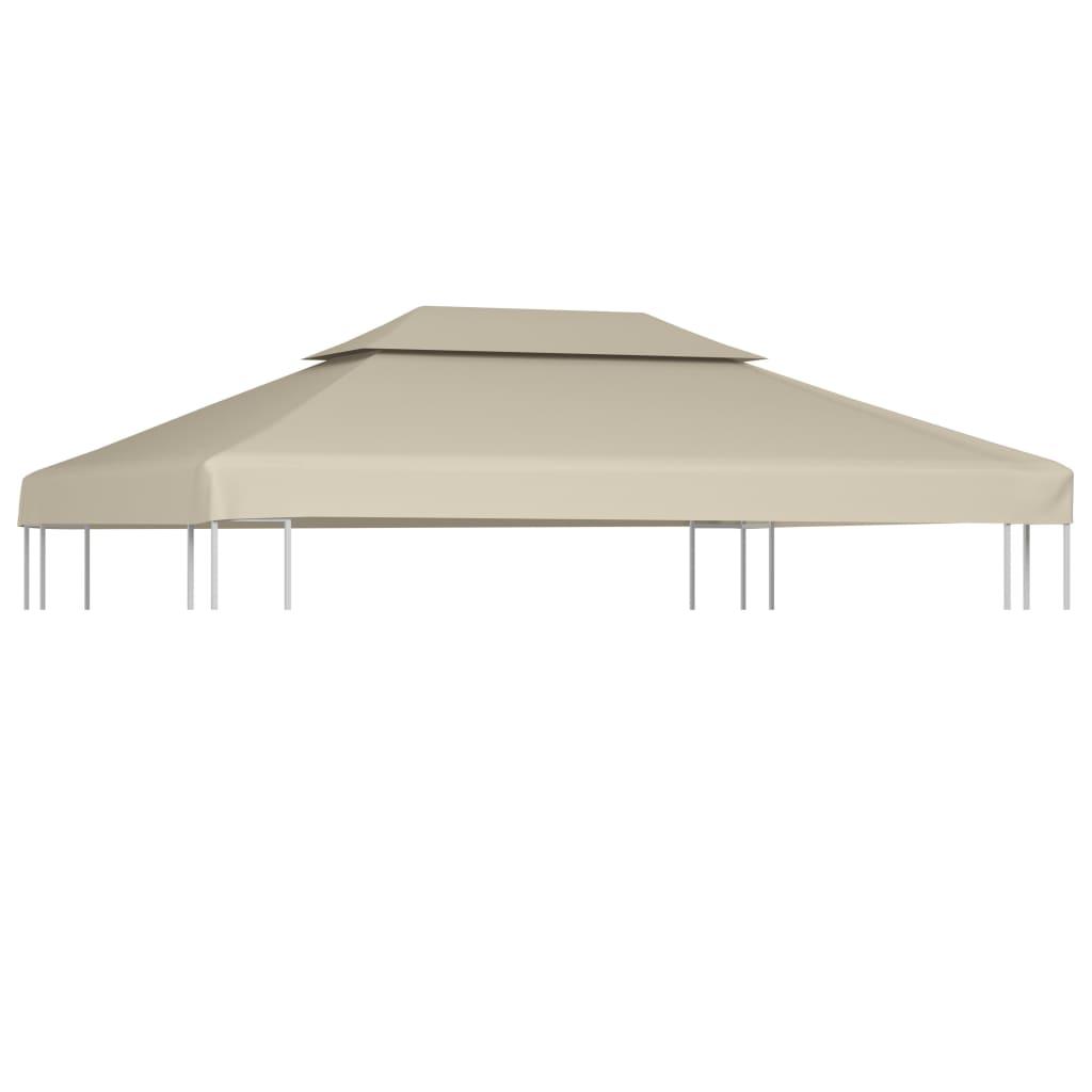 vidaXL Waterproof Gazebo Cover Canopy Beige 10' x 13'