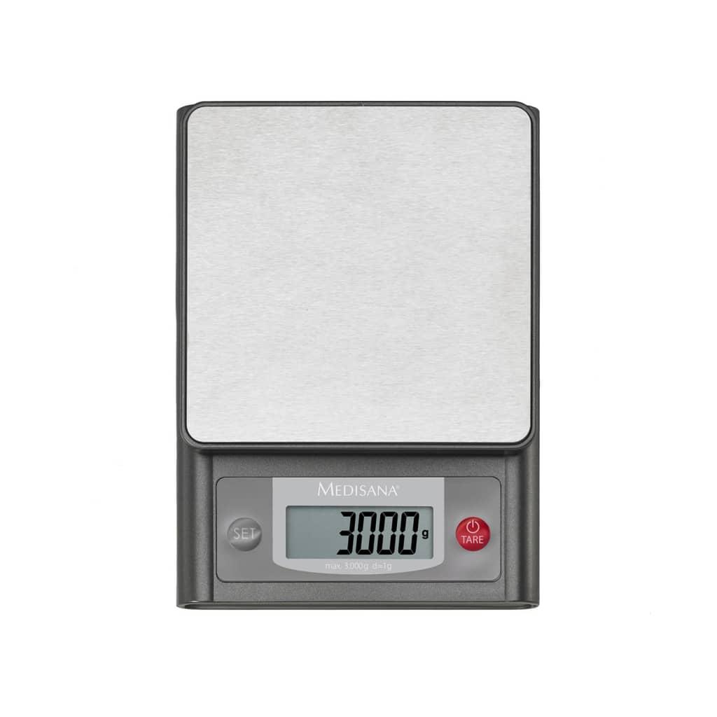 medisana digitale k chenwaage ks 200 edelstahl 3 kg 40469. Black Bedroom Furniture Sets. Home Design Ideas