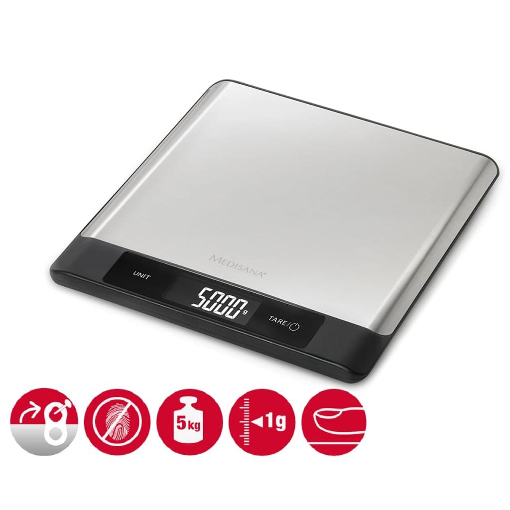 La boutique en ligne medisana balance de cuisine num rique ks 230 acier inoxydable 5 kg - Balance de cuisine 10 kg ...