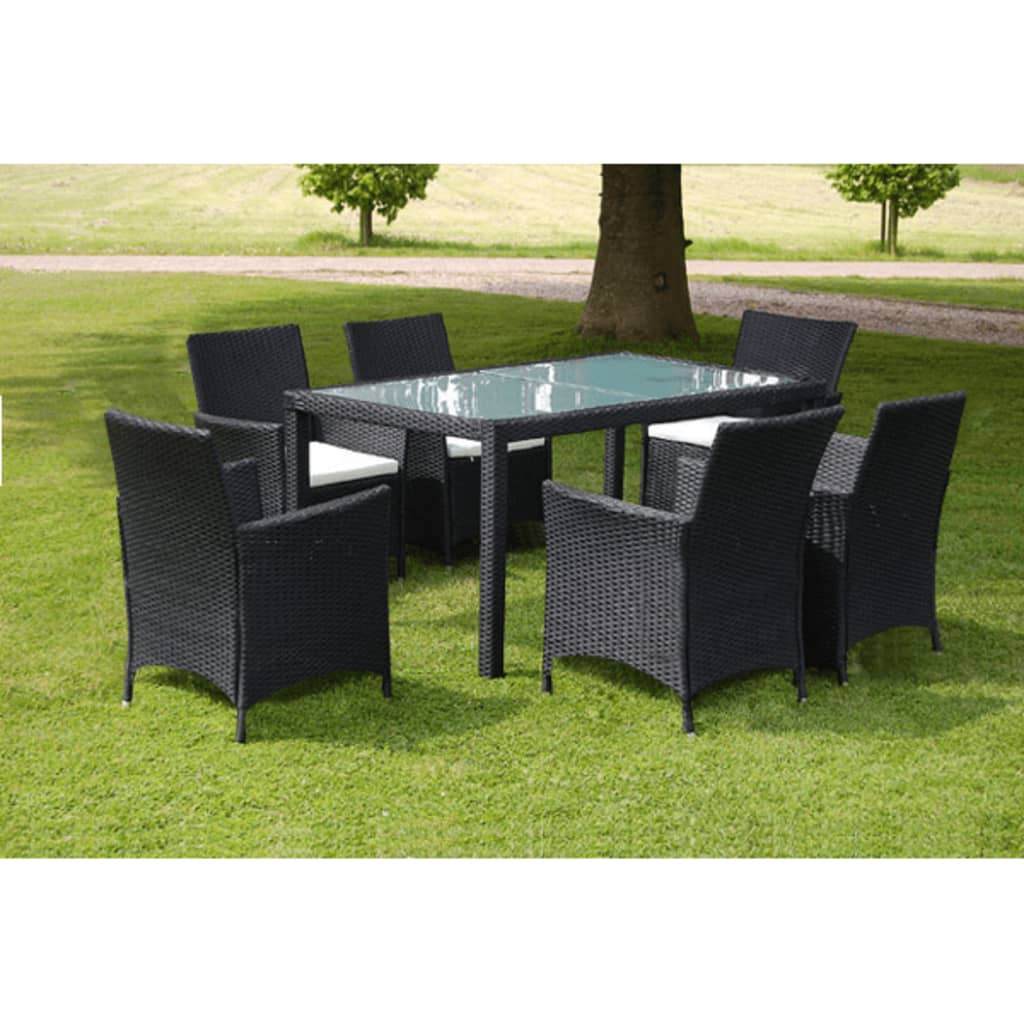 der poly rattan gartenm bel essgruppe sitzgruppe gartenset. Black Bedroom Furniture Sets. Home Design Ideas