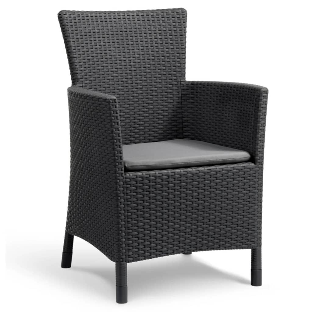 Acheter allibert mobilier de jardin iowa 3 pi ces graphite for Mobilier jardin en solde
