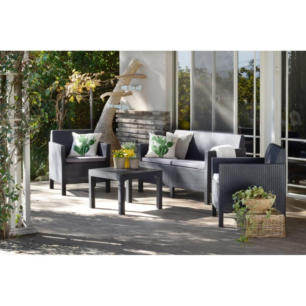 allibert vierteiliges gartenm bel set orlando graphit. Black Bedroom Furniture Sets. Home Design Ideas