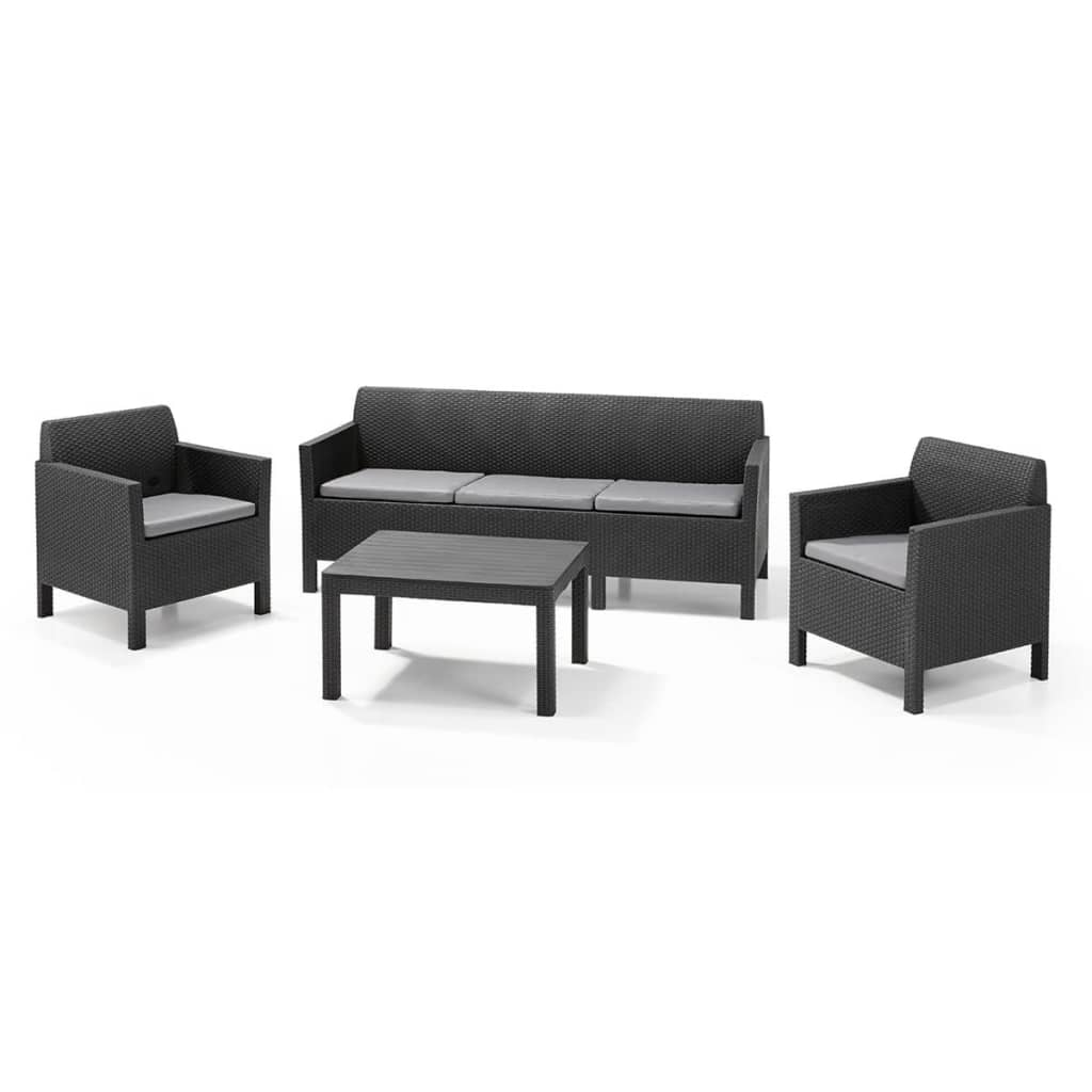 La boutique en ligne allibert mobilier de jardin orlando 4 pi ces graphite for Meuble de jardin seconde main