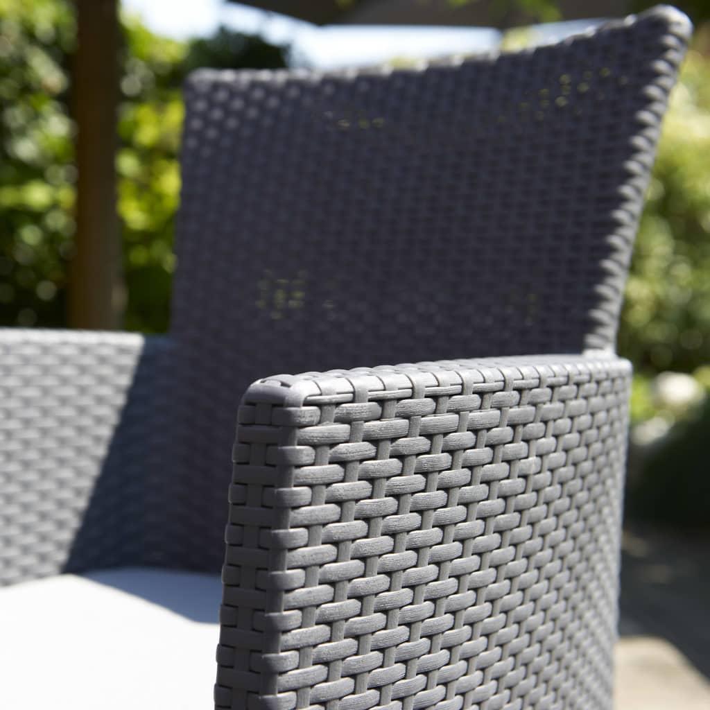 acheter allibert chaise de salle manger de jardin iowa graphite 215526 pas cher. Black Bedroom Furniture Sets. Home Design Ideas