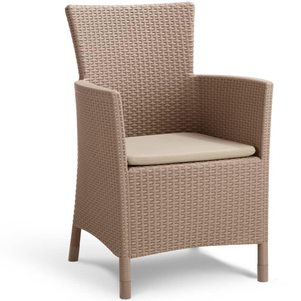 Allibert silla de comedor de jard n iowa gris capuchino for Sillas jardin amazon