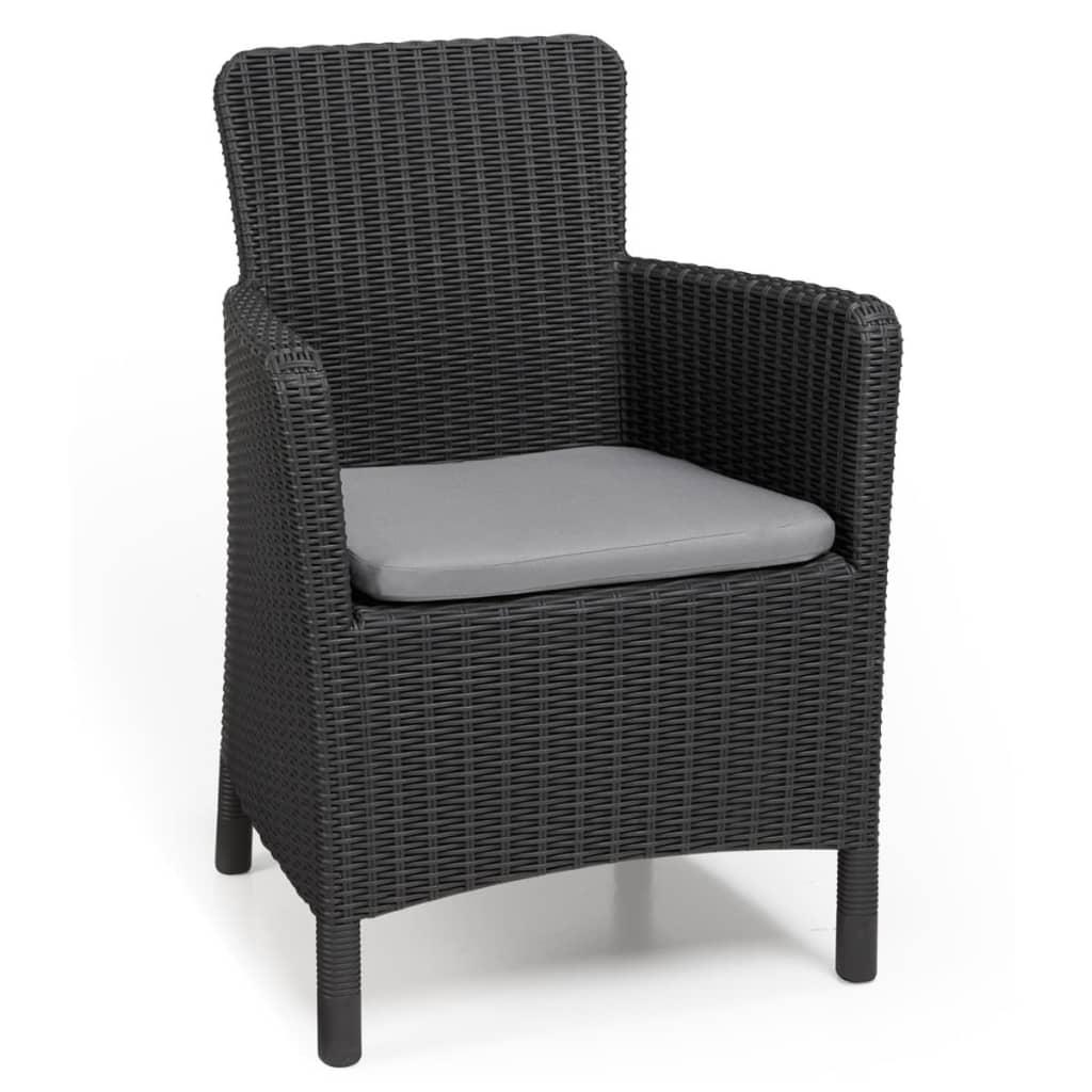 Allibert Krzesło ogrodowe Trenton, grafitowe, 226453