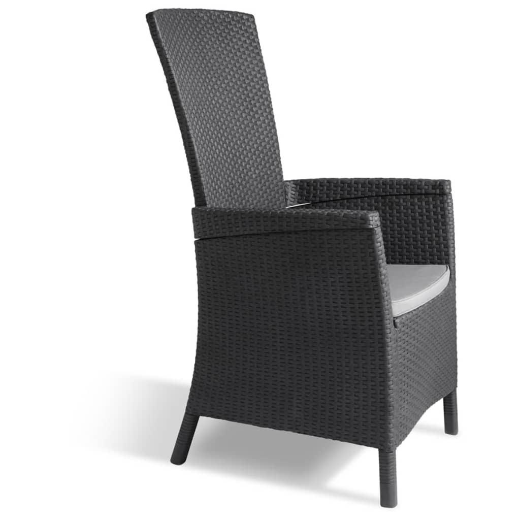allibert silla reclinable de jard n vermont gris grafito. Black Bedroom Furniture Sets. Home Design Ideas
