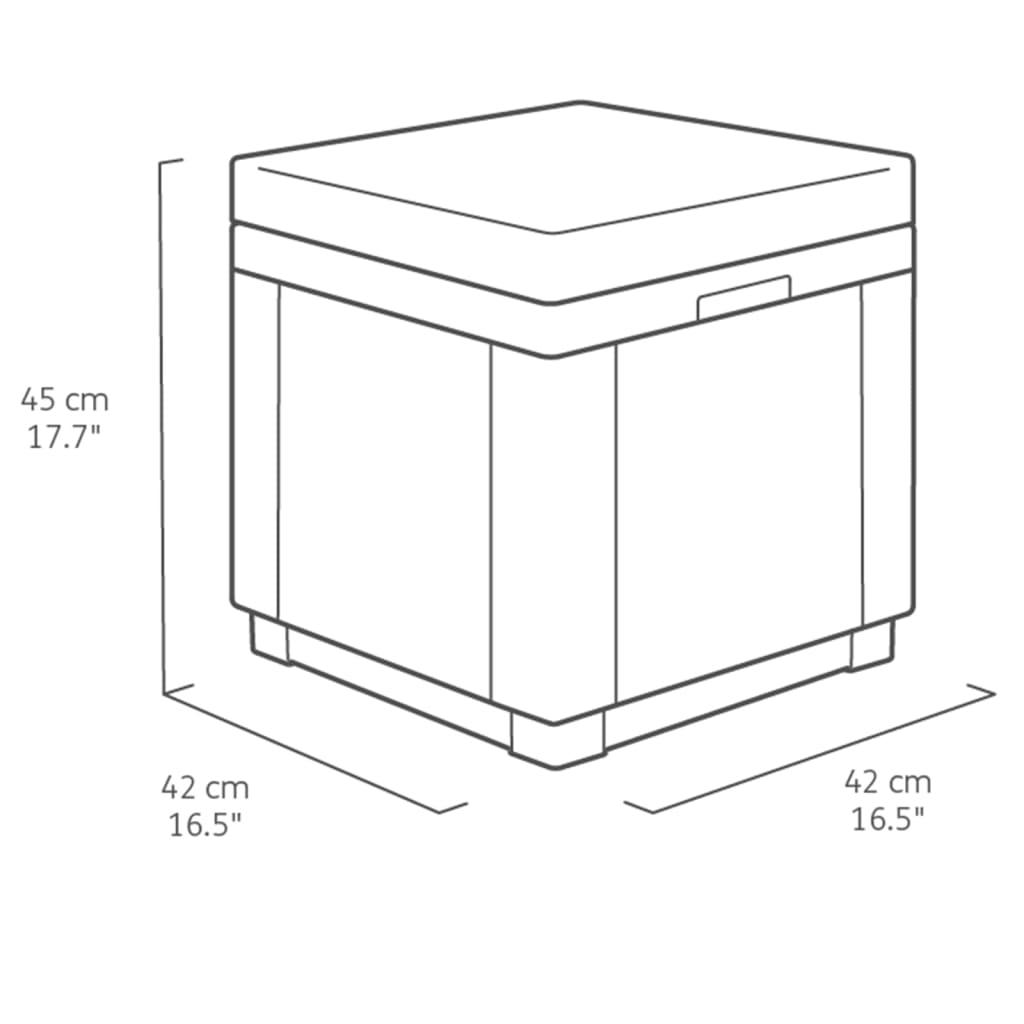 Allibert Cube Hocker Aufbewahrungsmöbel Graphit 213785 ...