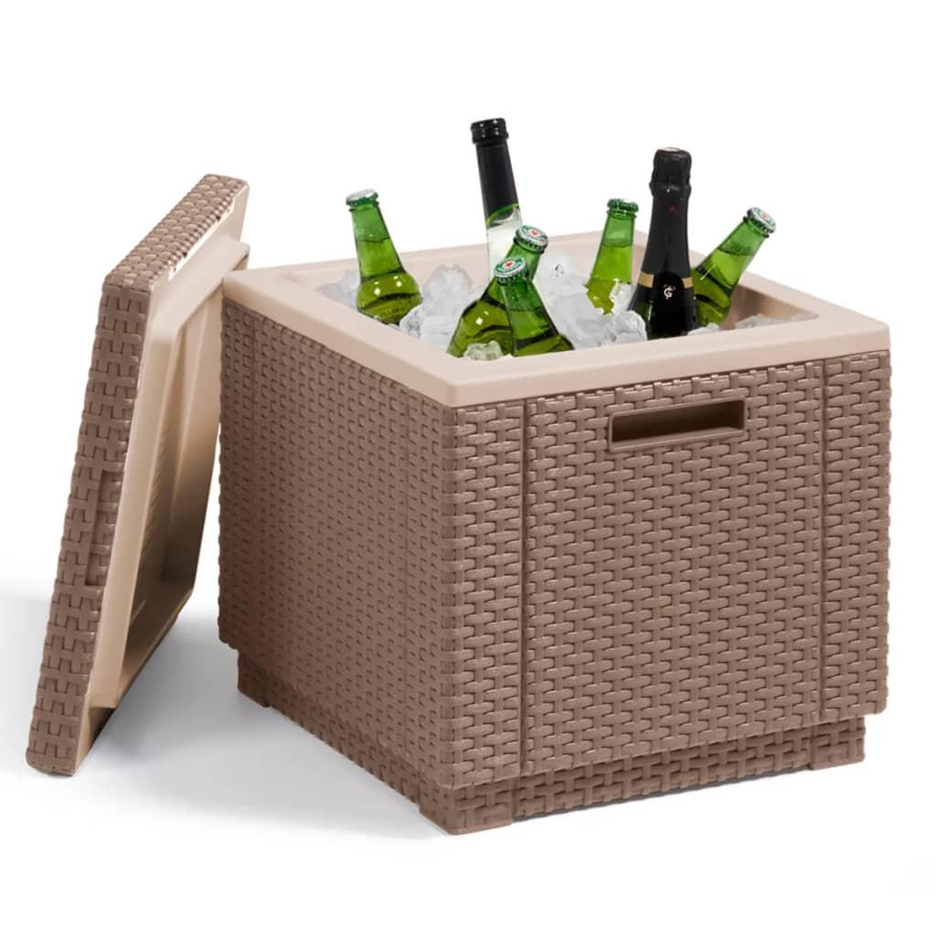 allibert cooler box ice cube cappuccino 223761. Black Bedroom Furniture Sets. Home Design Ideas