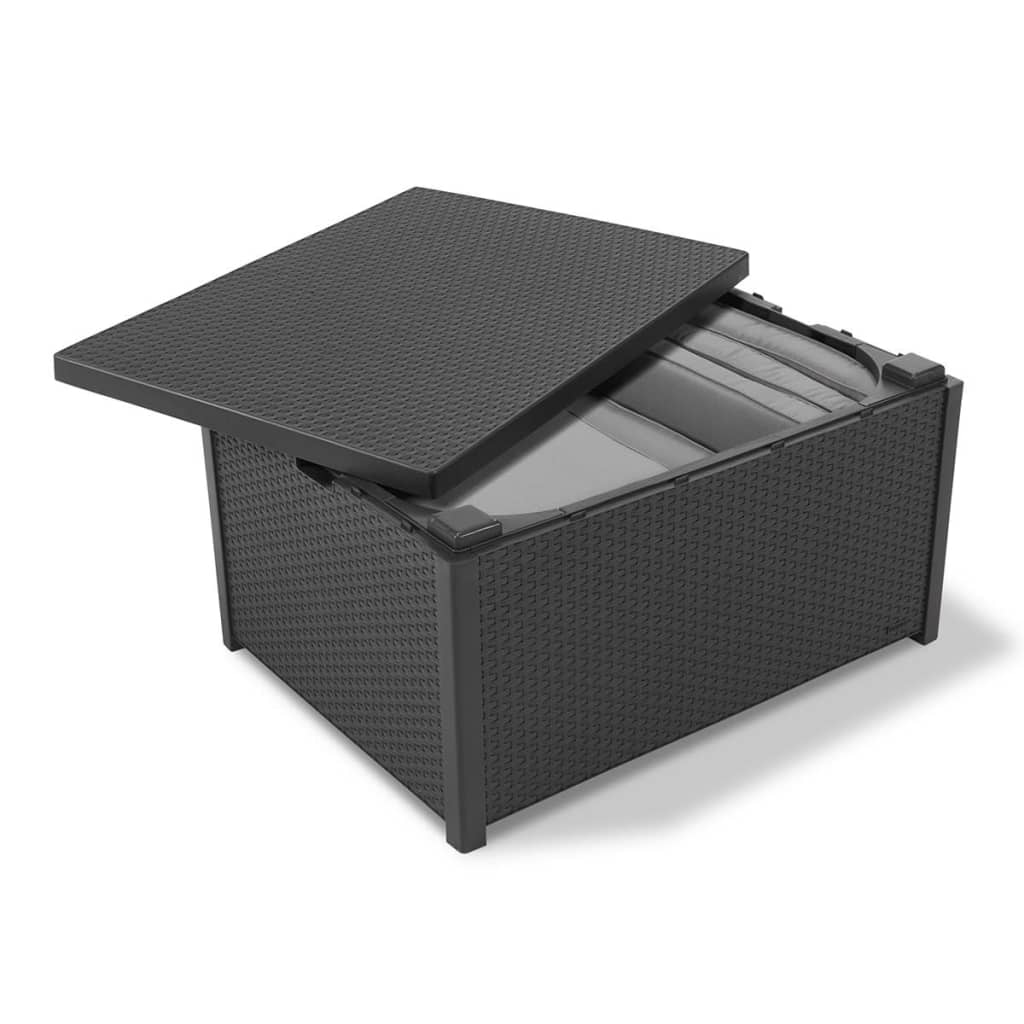 Allibert Storage Table Arica Graphite 221044 Vidaxl Co Uk