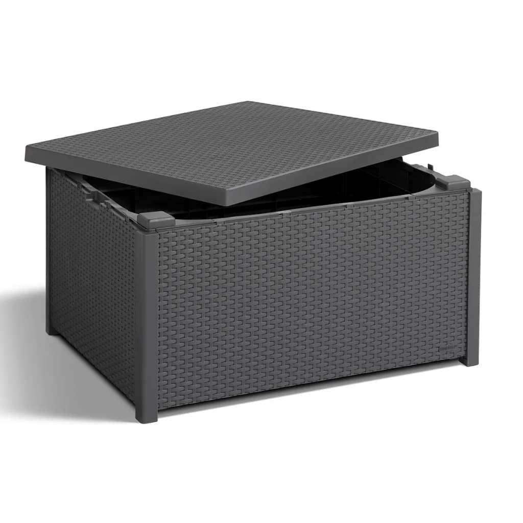 Acheter allibert table de rangement arica graphite pas for Table de rangement