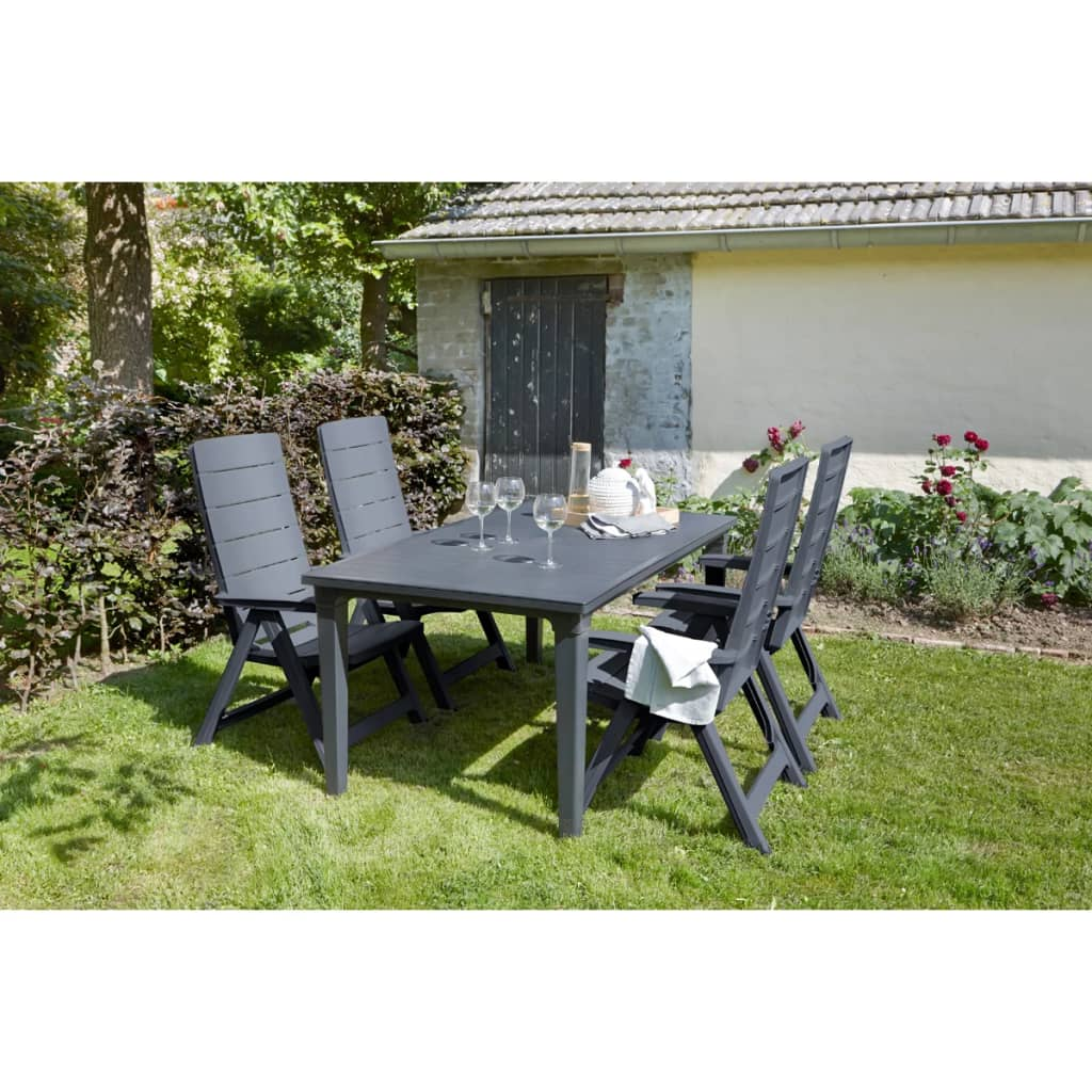 Allibert sillas reclinables de jard n brasilia 2 uds gris for Rebajas mobiliario jardin