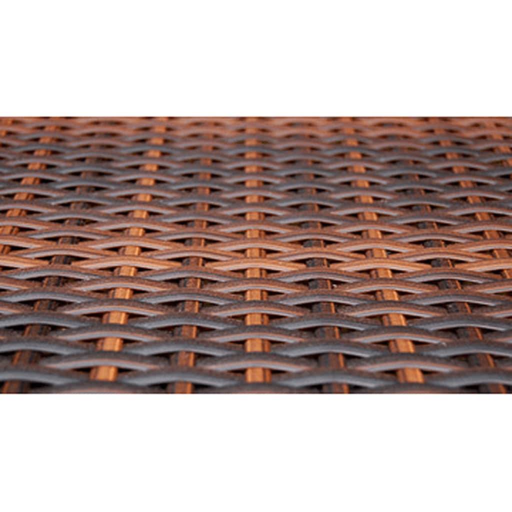 vidaxl gartenm bel set mit 4 st hlen braun polyrattan. Black Bedroom Furniture Sets. Home Design Ideas