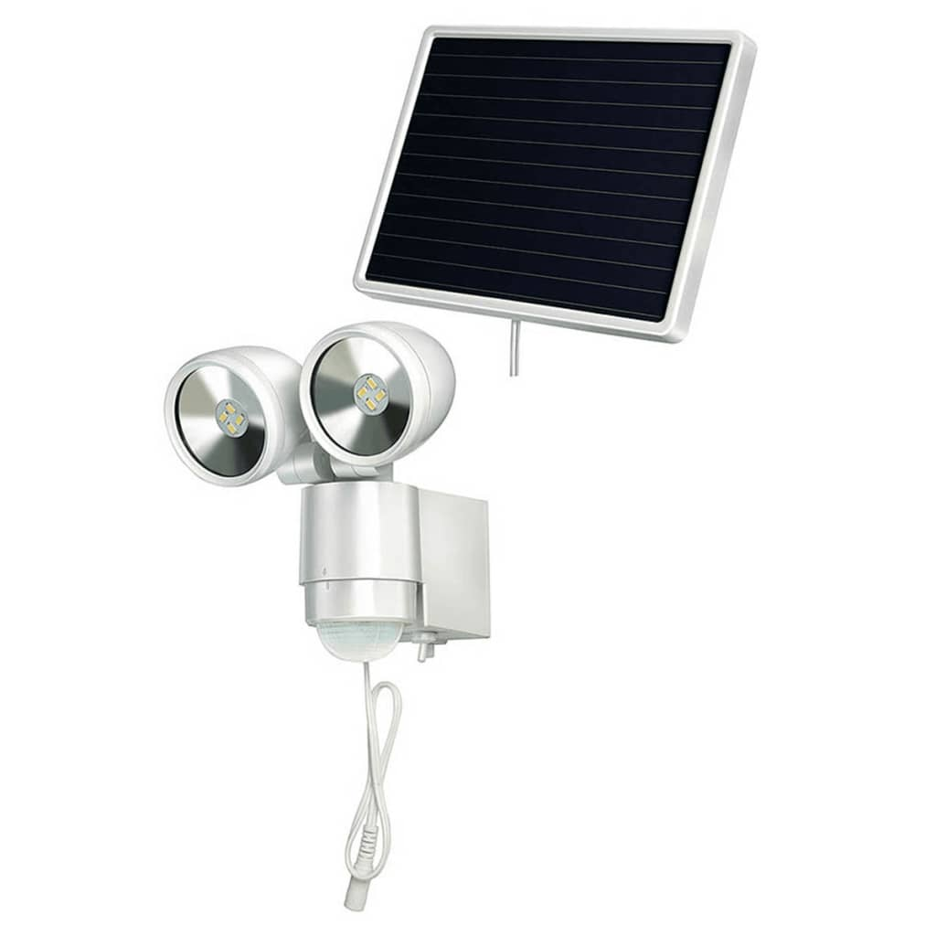 acheter brennenstuhl projecteur solaire led sol 2 x 4 blanc 4 w pas cher. Black Bedroom Furniture Sets. Home Design Ideas