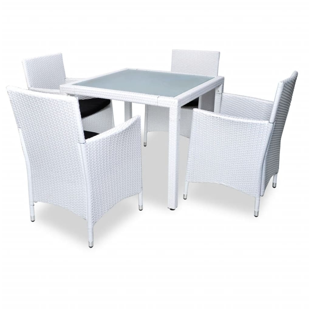 La boutique en ligne ensemble de jardin rotin blanc 4 for Ensemble table jardin