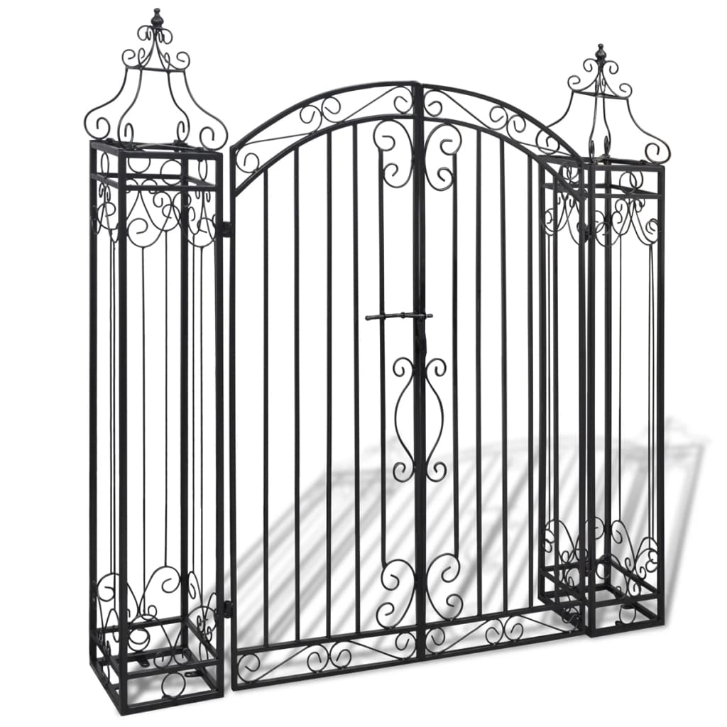 ornamental iron driveway entry gate. Black Bedroom Furniture Sets. Home Design Ideas