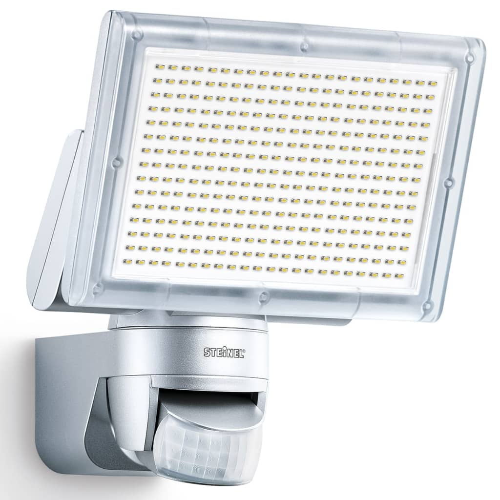 steinel sensor led floodlight xled home 3 silver 029739. Black Bedroom Furniture Sets. Home Design Ideas