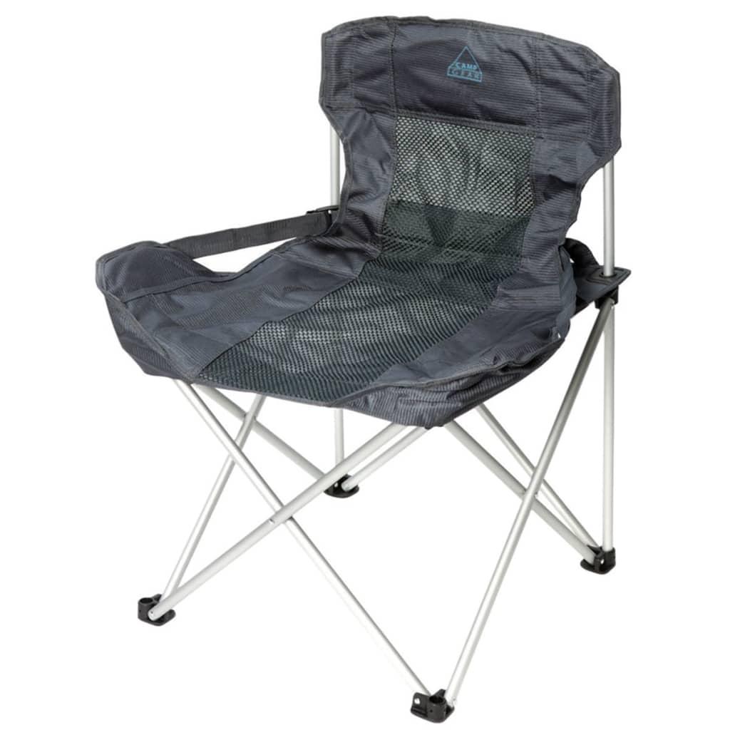 Camp Gear Składane krzesło kempingowe Deluxe Compact, antracytowe