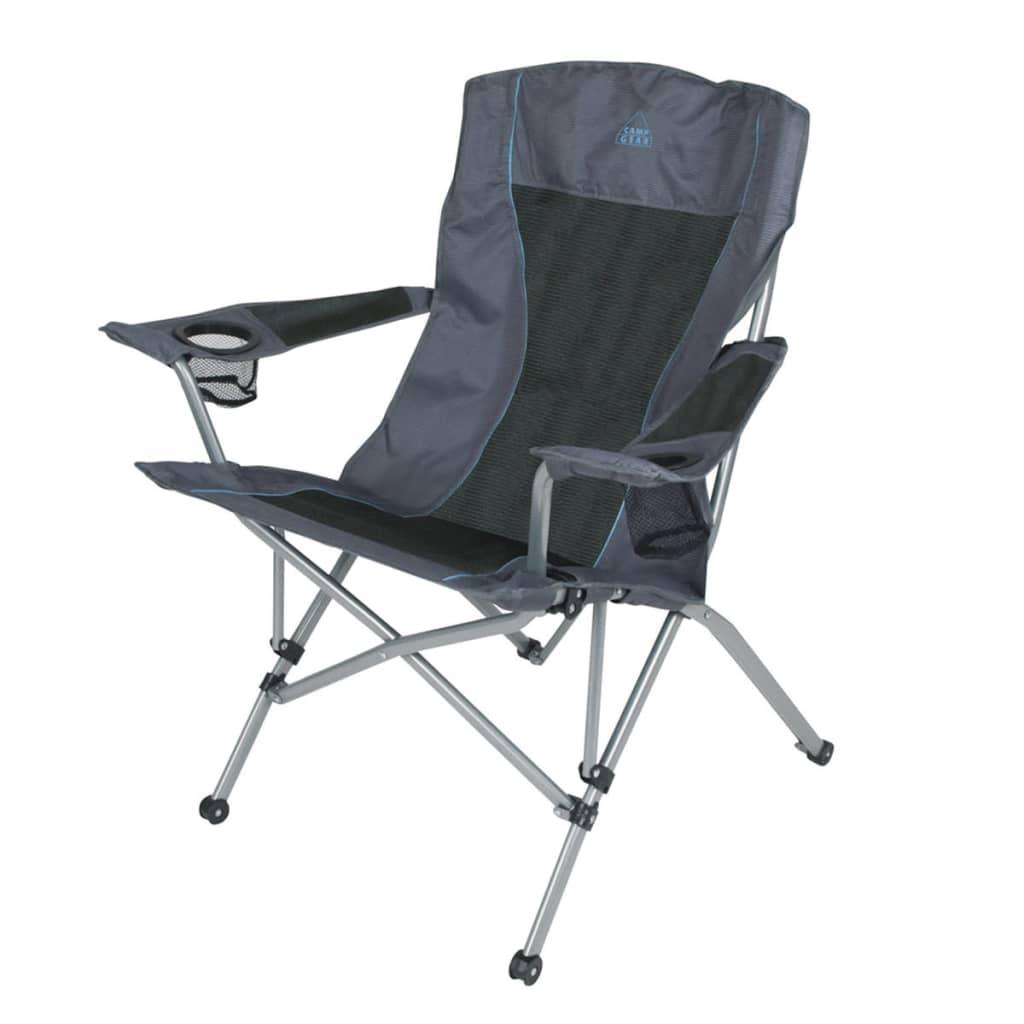 camp gear campingstuhl klappstuhl deluxe comfort anthrazit. Black Bedroom Furniture Sets. Home Design Ideas