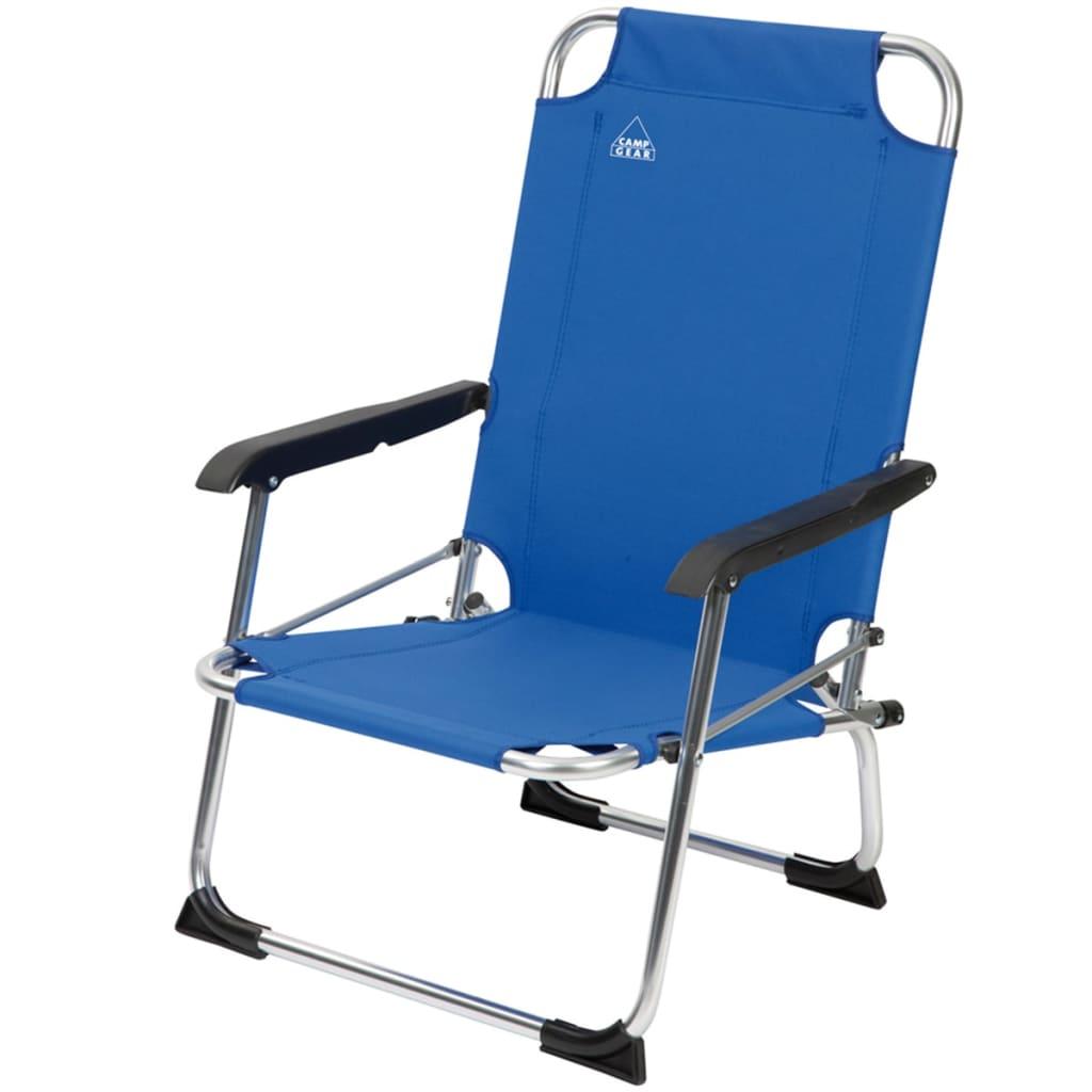 Camp Gear Krzesło plażowe, niebieskie, 1204766