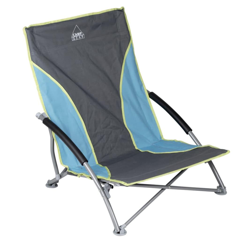 Camp Gear Krzesło plażowe Compact, niebiesko-szare, 1204781