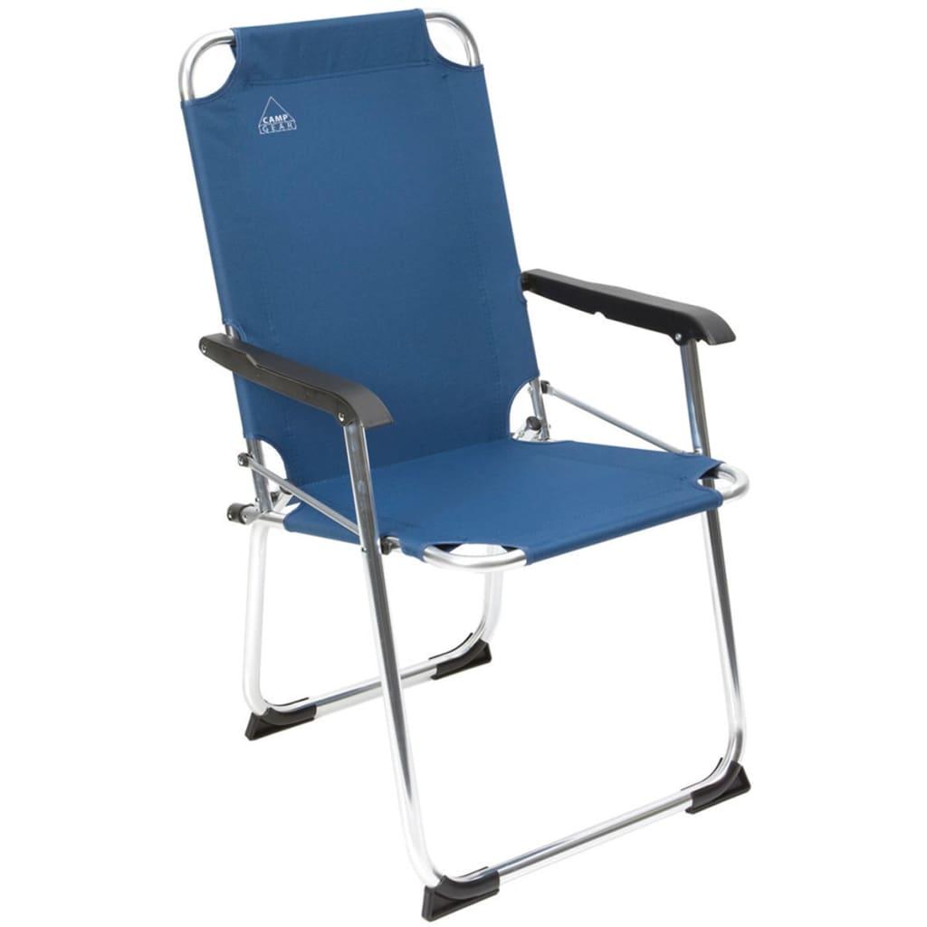 camp gear klapp campingstuhl classic blau aluminium 1211934 im vidaxl trendshop. Black Bedroom Furniture Sets. Home Design Ideas