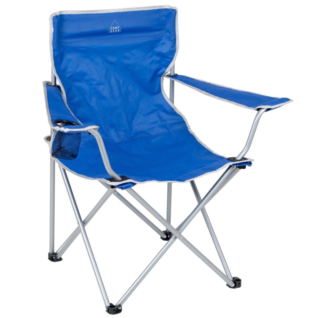 Camp gear silla plegable de camping aluminio azul 1267188 - Sillas plegables de camping ...