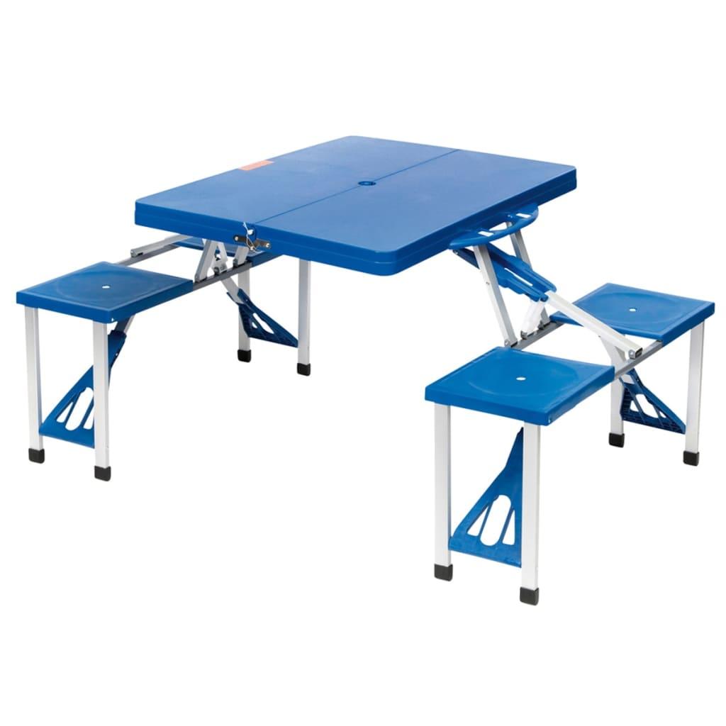 Camp Gear Zestaw kempingowy Basic, stal, kolor niebieski, 1404374