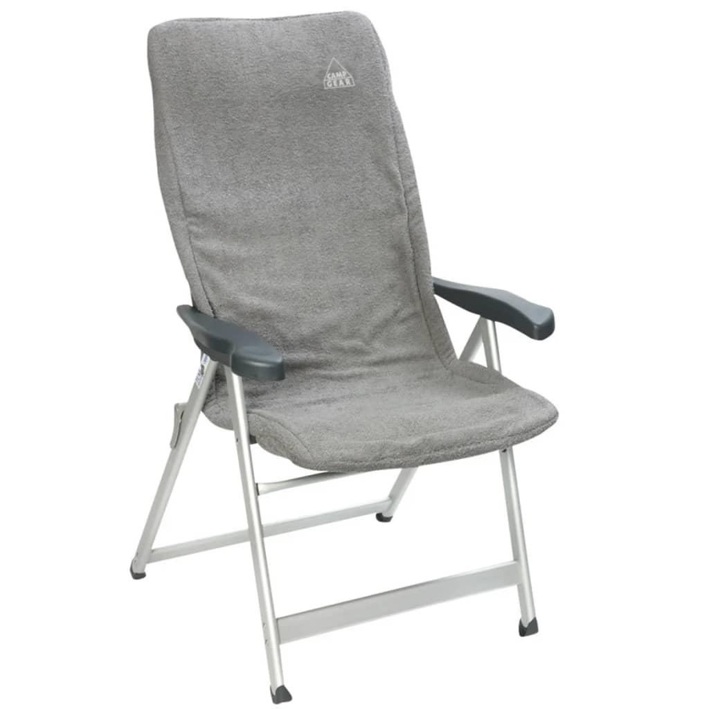 Camp Gear Pokrowiec na krzesło Universal, szary, bawełna, 124x58 cm