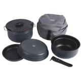 Camp Gear Ensemble d'ustensiles de cuisine 7 pcs 1,4/2,5/3,3 L Aluminium