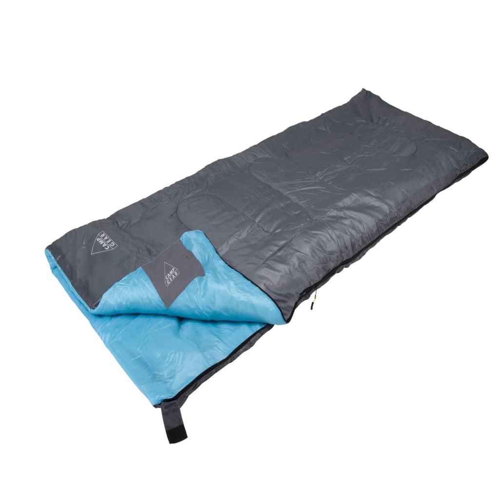 camp gear schlafsack festival 190x75 cm grau und blau. Black Bedroom Furniture Sets. Home Design Ideas