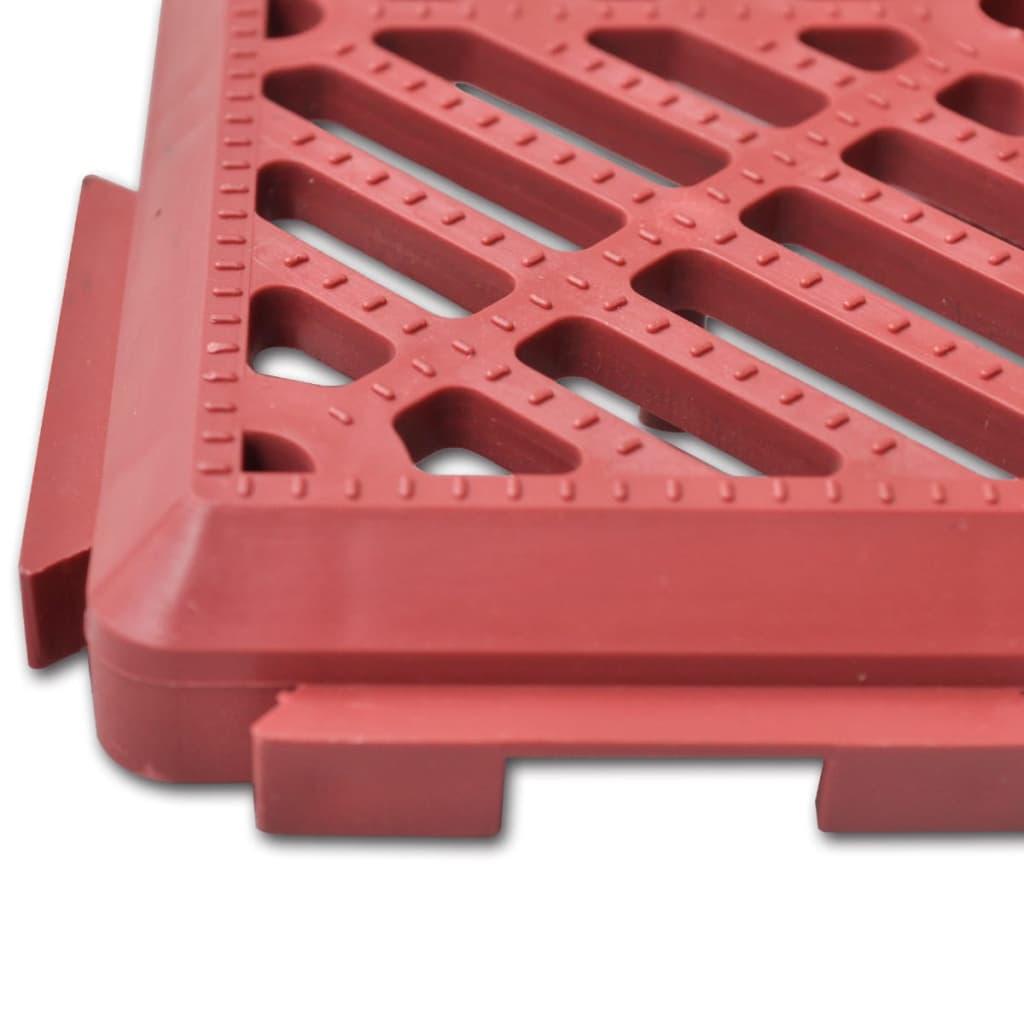 Articoli per set 24 pezzi piastrelle plastica pavimento - Piastrelle da giardino in plastica ...