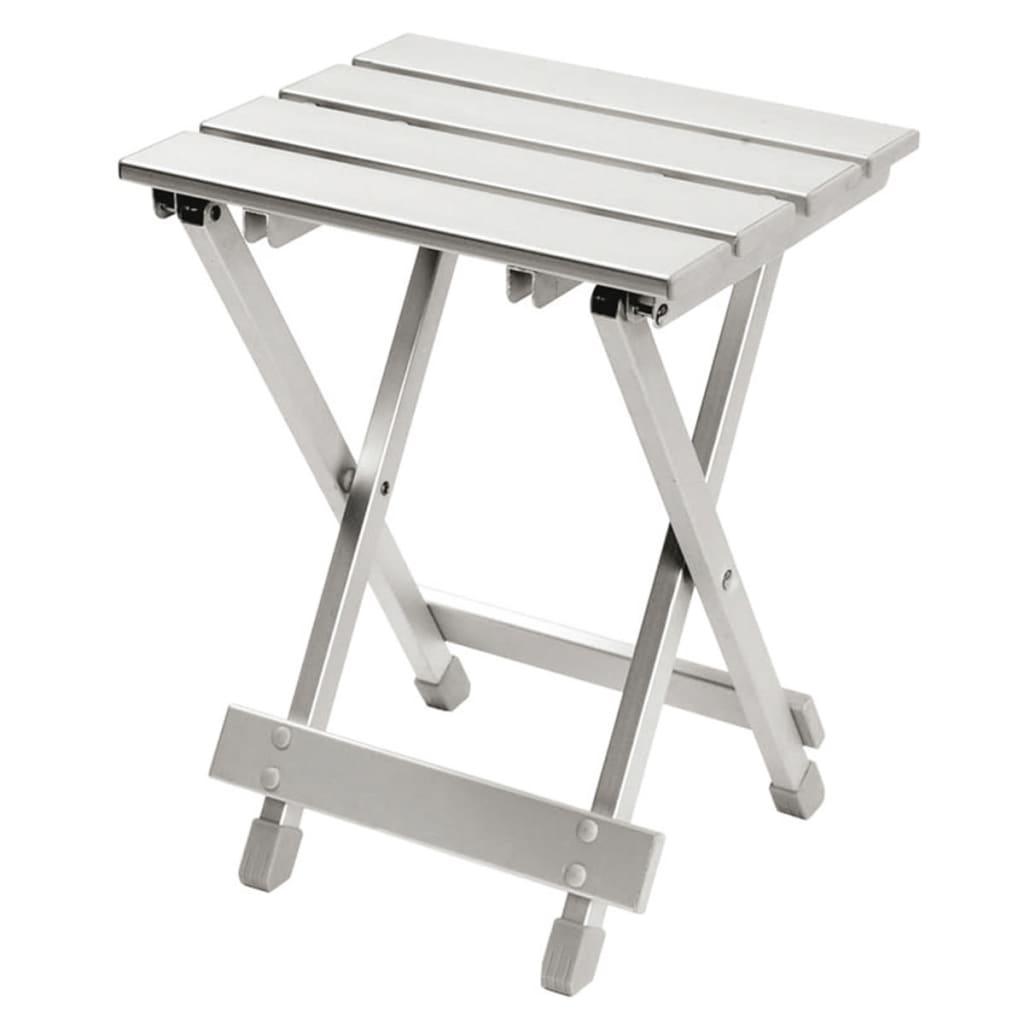 Camp Gear Folding Stool Side Table Aluminium Grey 60 Kg