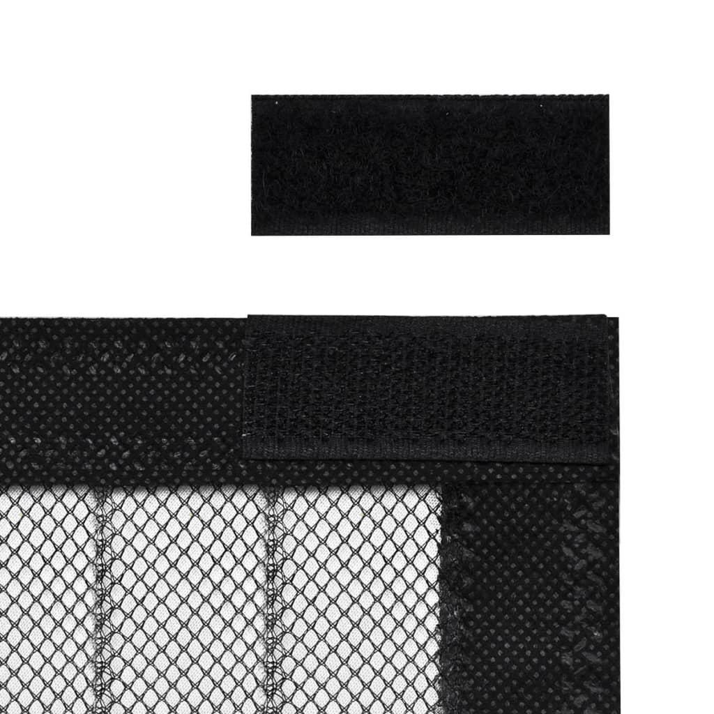 Cortina magn tica de puerta de insectos tiras de velcro 2 for Velcro para mosquitera