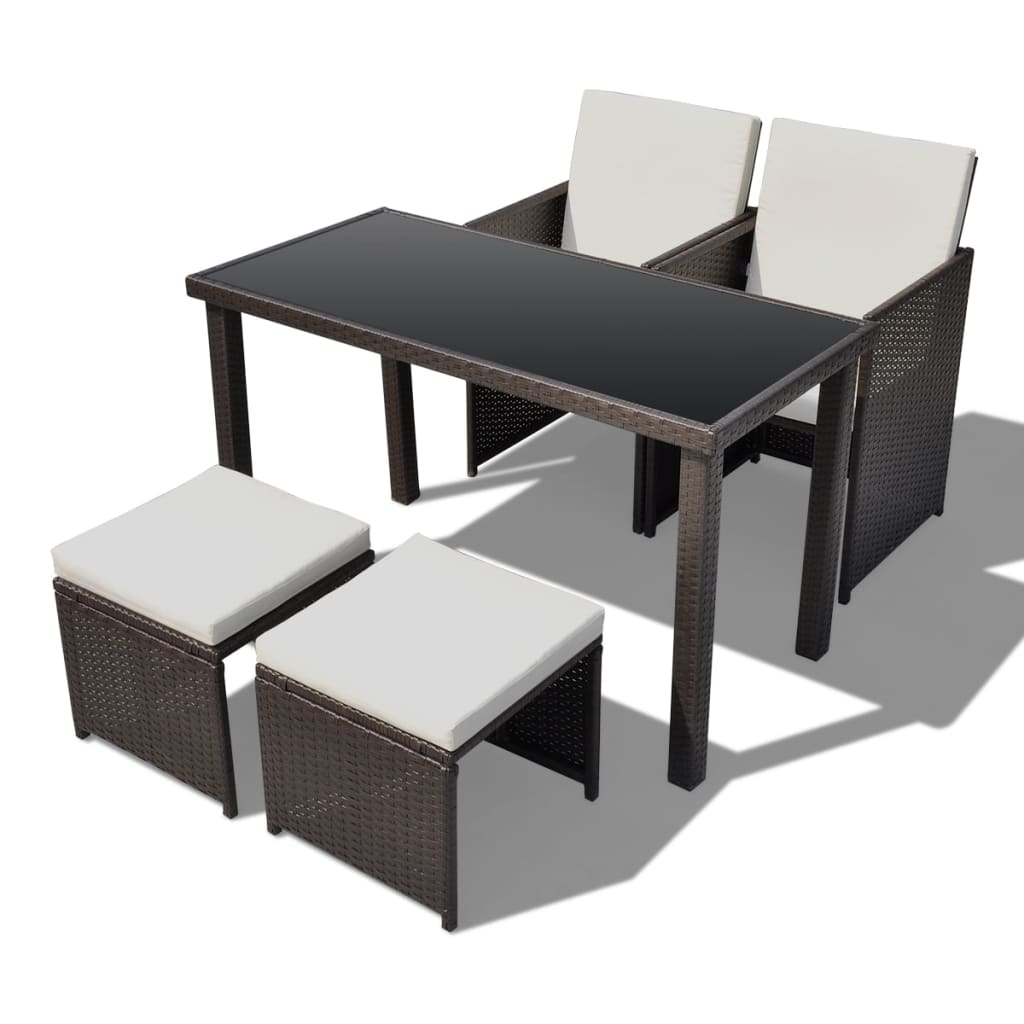 der poly rattan gartenm bel essgruppe gartenset 2 st hle 2. Black Bedroom Furniture Sets. Home Design Ideas