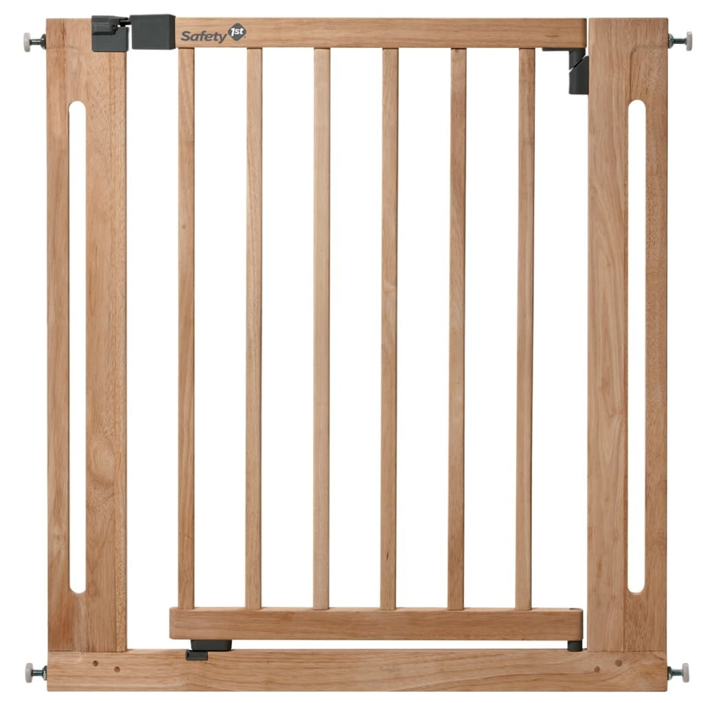 vidaxlcouk  safety st safety gate easy close  cm wood  -  safety st safety gate easy close  cm wood