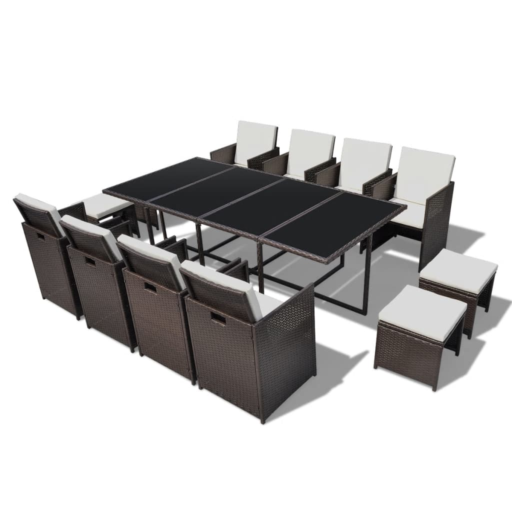 der poly rattan gartenm bel essgruppe gartenset braun st hle hocker online shop. Black Bedroom Furniture Sets. Home Design Ideas