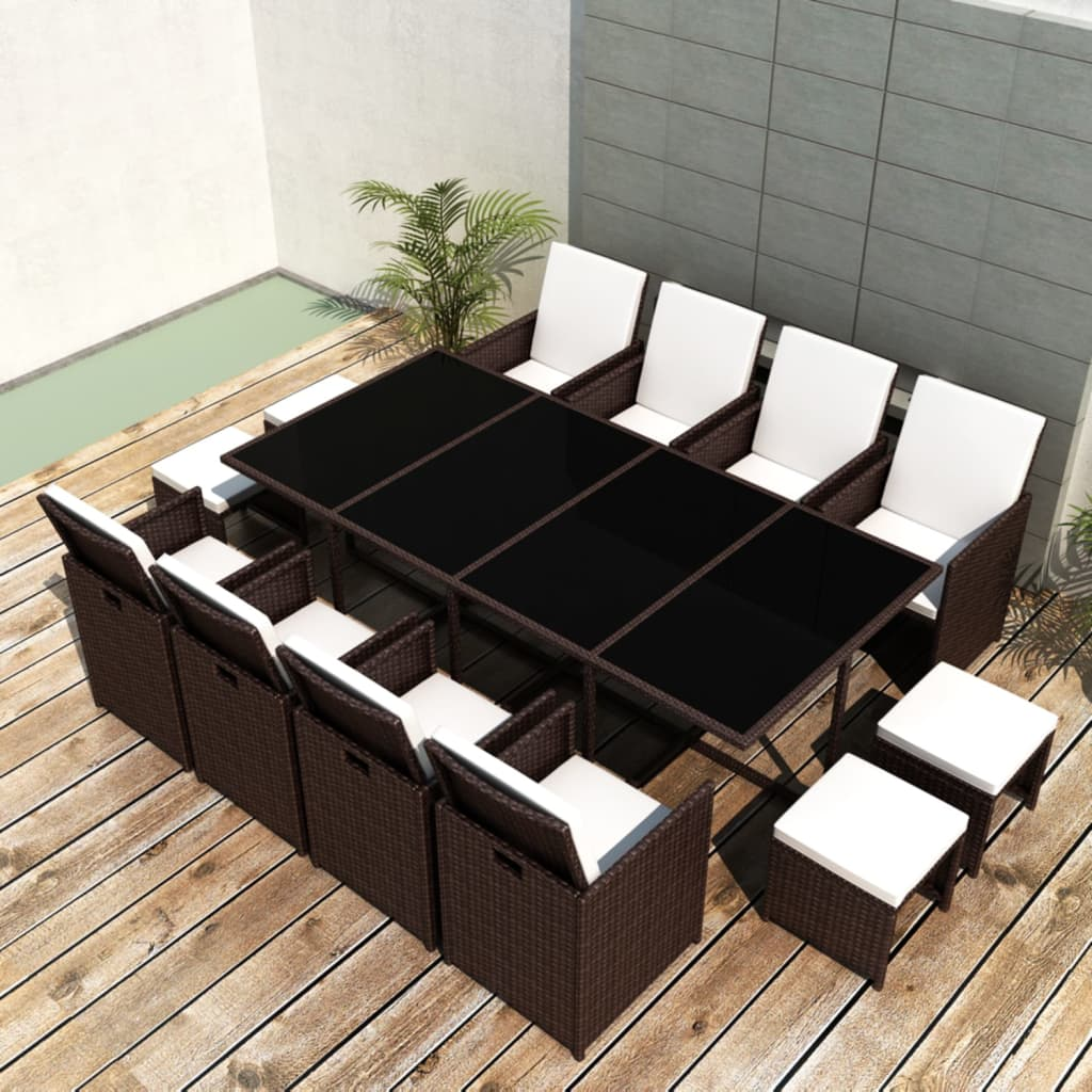 rattan gartenm bel essgruppe gartengarnitur gartenset sitzgruppe sessel lounge ebay. Black Bedroom Furniture Sets. Home Design Ideas