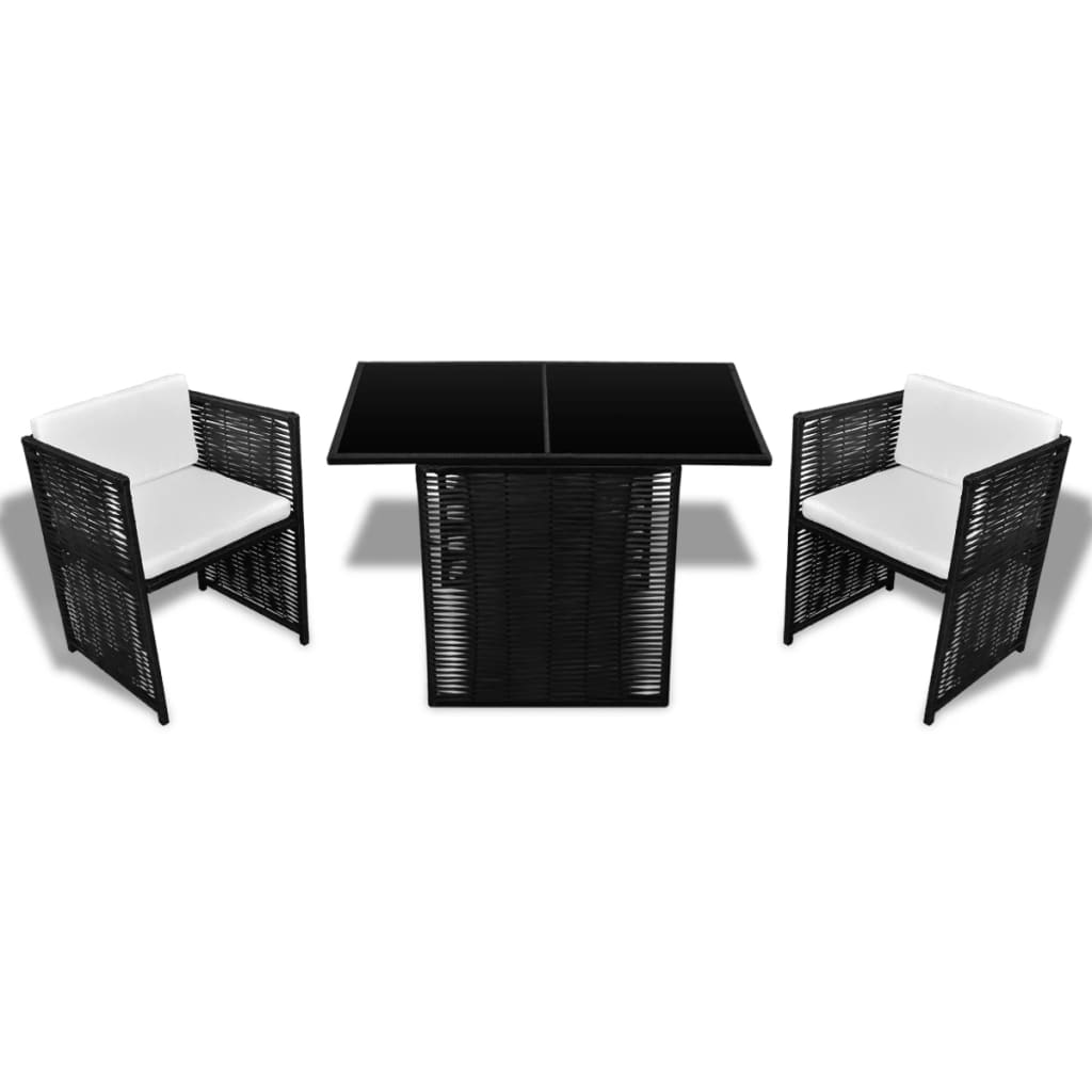 acheter salon de jardin 2 places en rotin noir pas cher. Black Bedroom Furniture Sets. Home Design Ideas