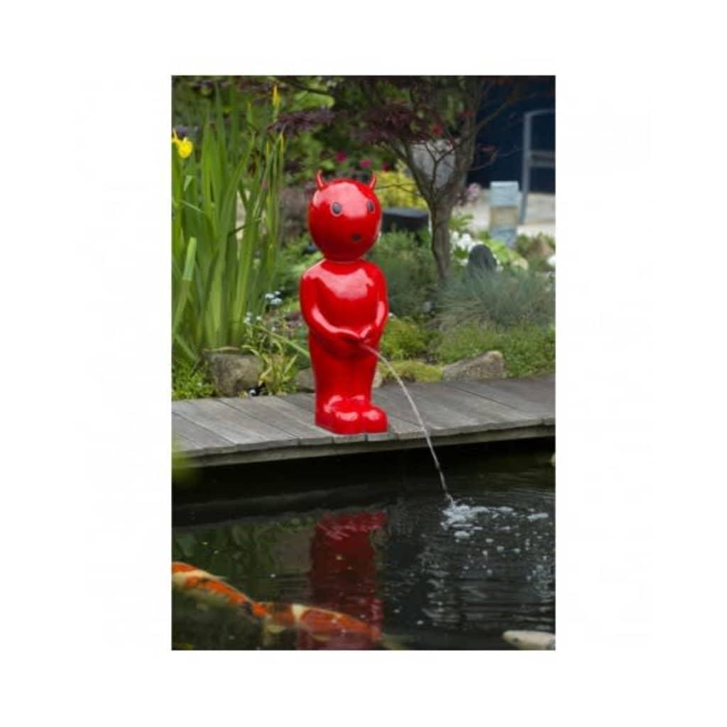 Ubbink statua sputa acqua laghetto diavoletto rosso 45 5 for Eliminare acqua verde laghetto