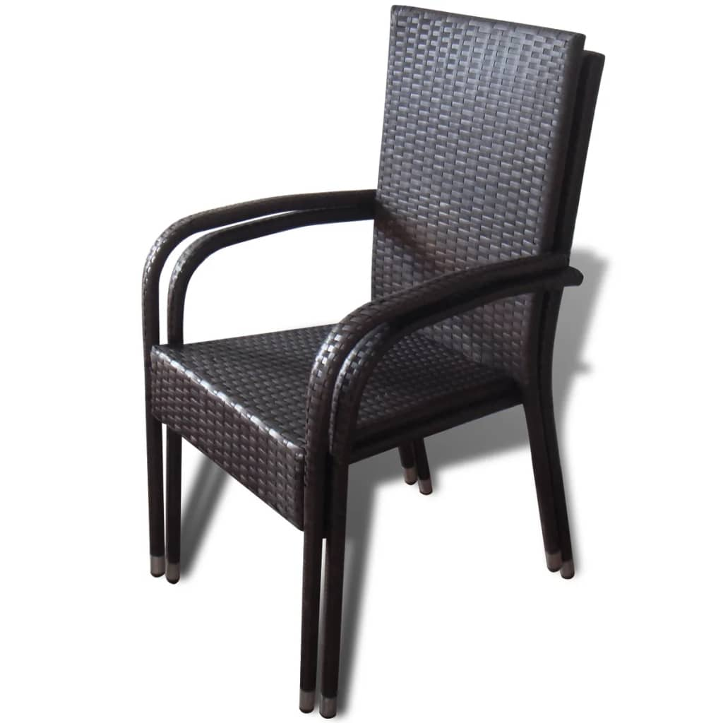 Brown Poly Rattan Garden Furniture Dining