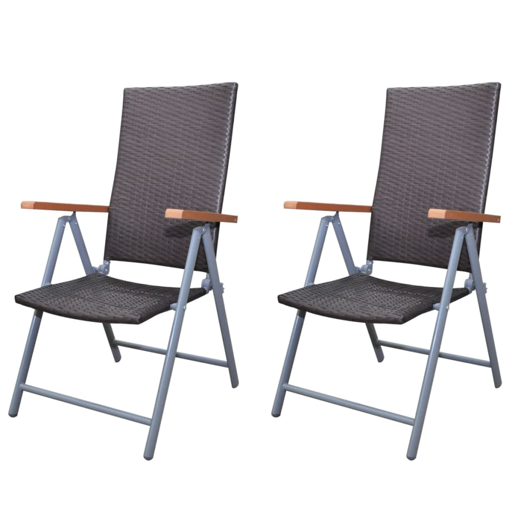 gartenstuhl set 2 stk poly rattan braun aluminiumrahmen g nstig kaufen. Black Bedroom Furniture Sets. Home Design Ideas