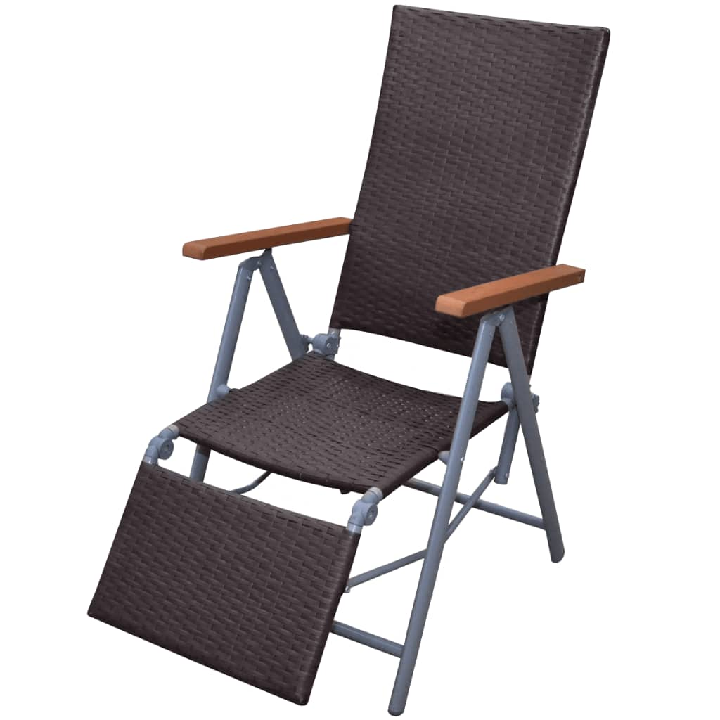 Rattan garden furniture chair brown for Garden furniture chairs