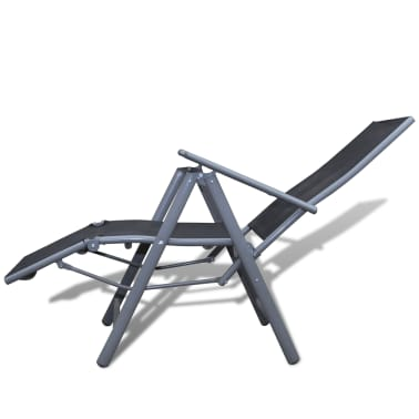 Textilene Garden Furniture Chair Black Aluminium Frame[3/4]