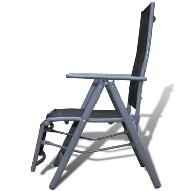 Textilene Garden Furniture Chair Black Aluminium Frame[2/4]