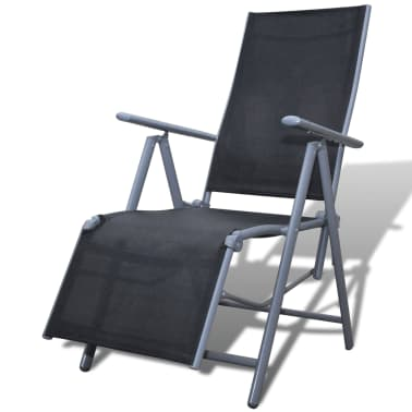 Textilene Garden Furniture Chair Black Aluminium Frame[1/4]