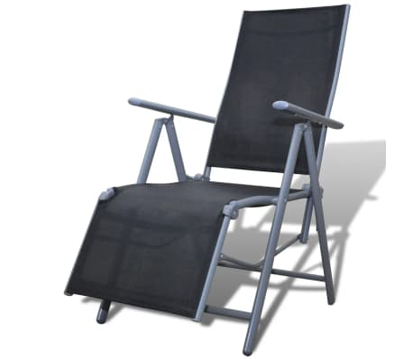 Textilene Garden Furniture Chair Black Aluminium Frame